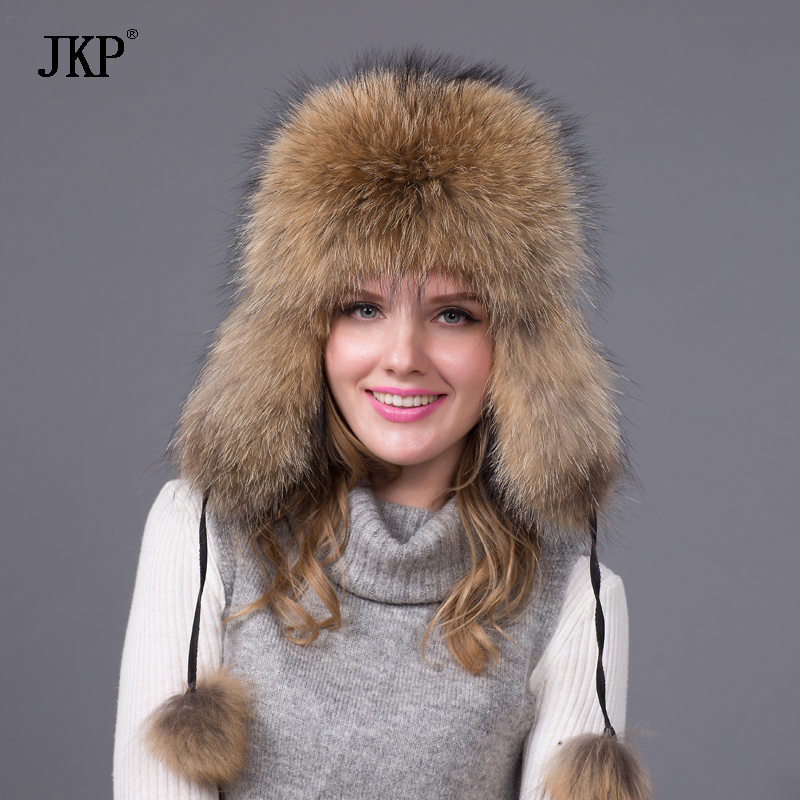 a693949ebbe70 Real Silver fox fur hat men and women ski cap thickened great warm ...
