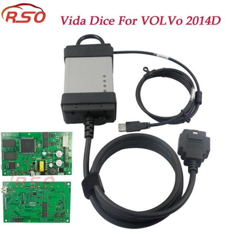 Горячие 2014D Vida кости с CD для Volvo Профессиональный диагностический сканер Vida кости полный чип Multi-язык бесплатная доставка