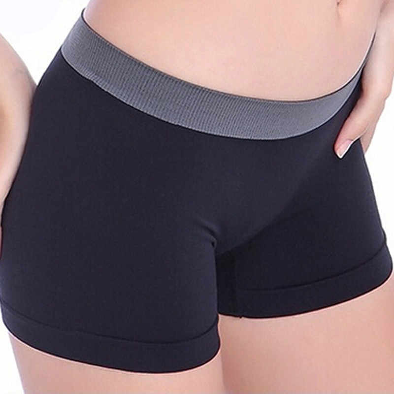 Women Safety Leggins Female Short Pants Summer Silk Mid Waist Sexy Solid Breathable Boyshorts Panties For Ladies Boxer #10