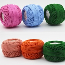 Lace Yarn Thread Hand-Knitting Thin 100%Cotton Colorful 50g/ball Sewing-Machine-Line