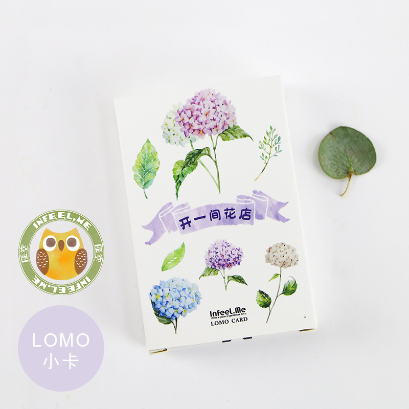 Beautiful Flowers LOMO Card 28 Cards/pack Card Bookmark Notes Message Card Small Gifts For Friends Stationery