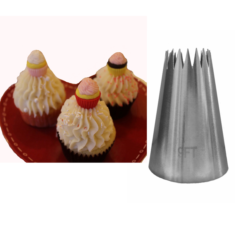 Cake Decorating Nozzle Sizes : #9FT Big Size Stainless Steel Cake Decorating Pastry ...