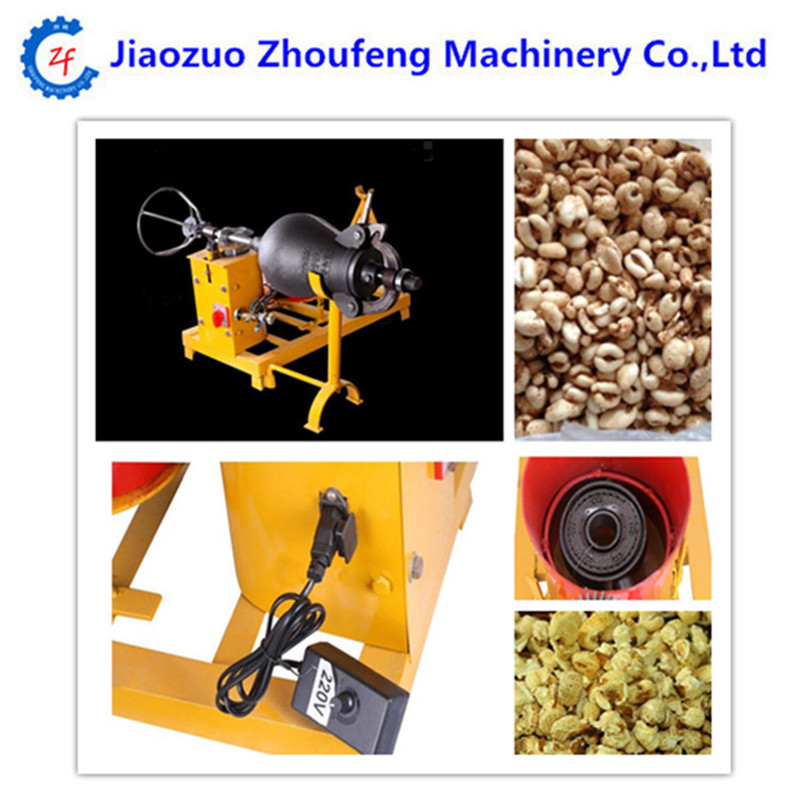Commercial hot air popcorn maker automatic electric rice corn puffed puffing machine automatic puffed rice snacks food extruder corn puffing making machine