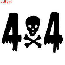 4x4 SKULL And Crossbones Car Decorative Stickers Decals Motorcycle Styling