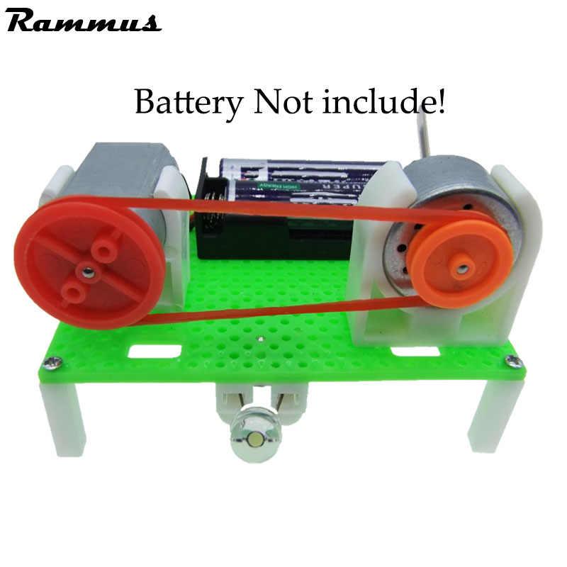 DIY Mini Generator Transmission Wheel Motor Electric Generator Motor Energy For Kids LED Education Science Experiment Gift