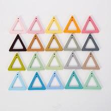 20 шт треугольные полые геометрические деревянные серьги diy
