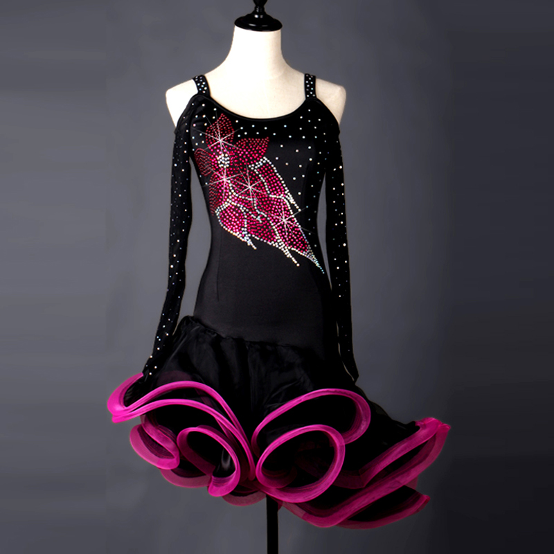 Cha Cha Rumba Samba tango salsa latin dance dress women competition dancing dresses latin kids ballroom for children ladies