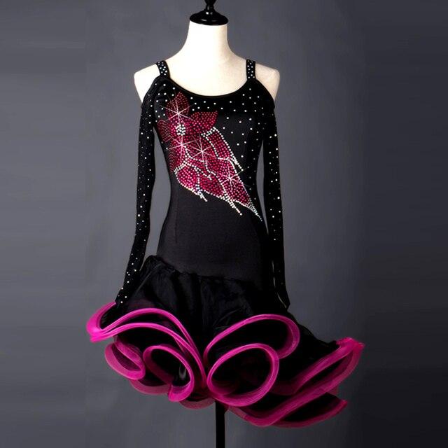 64229875a Cha rumba Samba Tango salsa Danza Latina vestido de baile niños latinos salón  de baile para