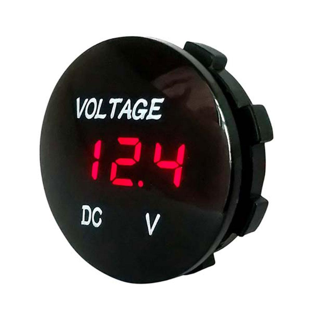 Черный 5 цветов дисплей напряжение дисплей Вольтметр для лодки Водонепроницаемый светодиодный прочный измеритель напряжения ATV автомобильные Универсальные мотоциклы - Цвет: Красный
