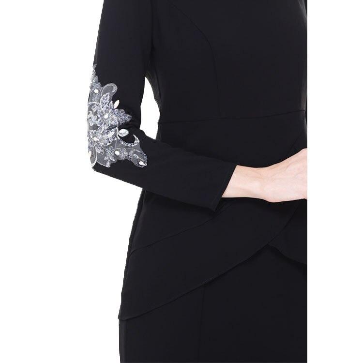 Advanced Customization Wholesale Middle East Women Fashion Black Muslim  Long Dress Malaysia Lace Baju Kurung with Embellishment-in Dresses from  Women s ... 99367198a6cf