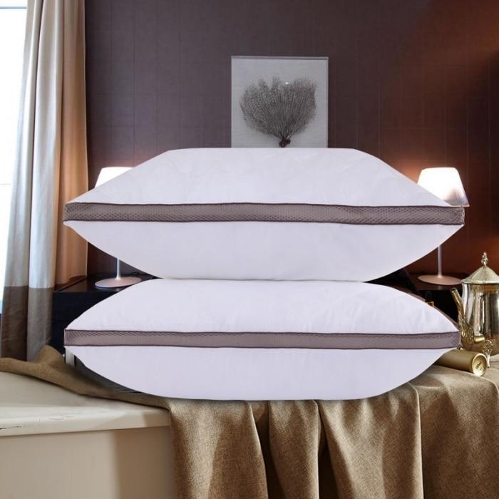 Thuis Textiel Slapen Kussen 100% Ganzendons Licht Wit Kussen Nul Druk Geheugen Kussen Nek Gezondheid 48*74 Cm