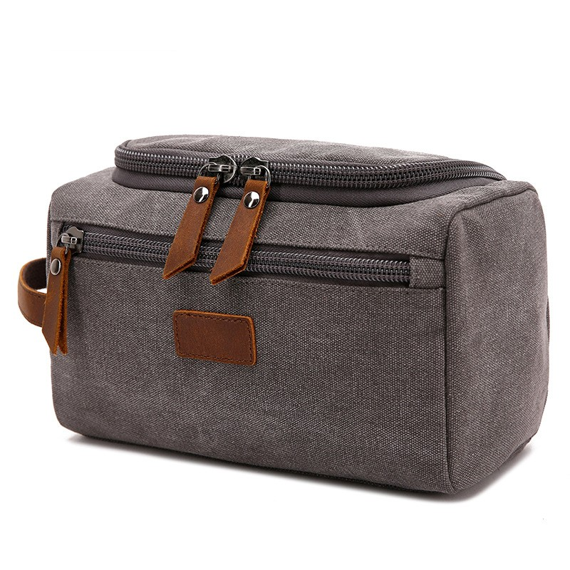 SAFEBET New Canvas Cosmetic Bag Men Travel Portable Makeup Bag Large Capacity Necessary Organizers Toiletries Toiletry Bag