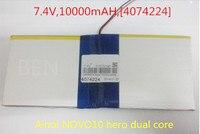 L128 7 4V 10000mAH 4074224 PLIB Polymer Lithium Ion Battery Li Ion Battery For Tablet