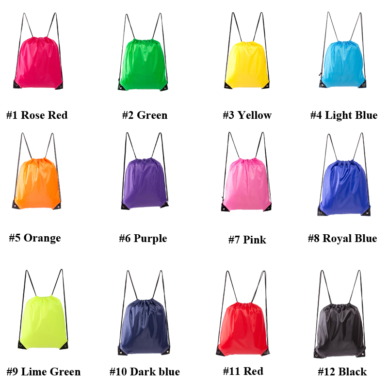 100pcs/lot 35*40cm 210D Polyester Drawstring Bags Custom Logo Can Be Accepted Free Shipping