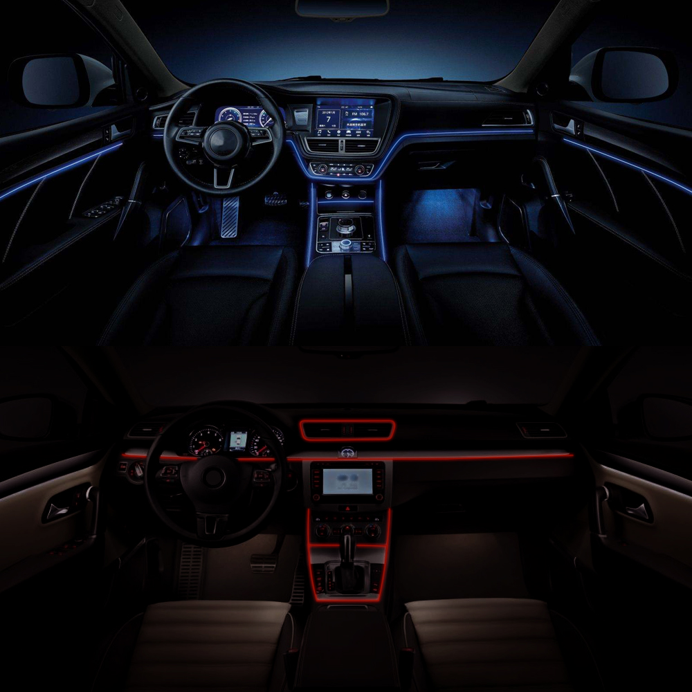 1m/2m LED Flexible Neon EL Wire Car Lights 12V Waterproof ...