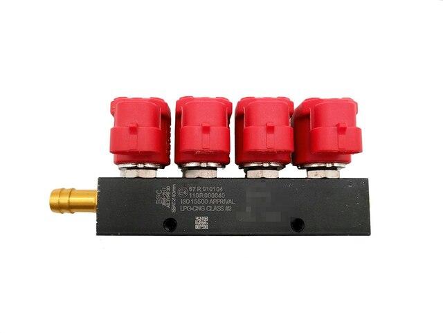 Cichy wysokiej prędkości 4 cylindra szyna wtryskiwacza adapter wykorzystujące sprężony gaz ziemny gaz LPG samochód paliwa zestawy do konwersji