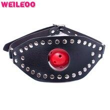 Маски 44 мм перфорированные открытый рот кляп мяч взрослые секс игрушки бдсм связывание набор фетиш раб bdsm секс игрушки для пар взрослых игр