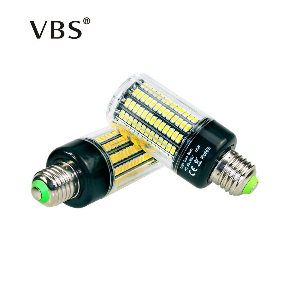 High Lumens 5736 SMD E27 3.5W 5W 7W 8W 12W 15W LED Corn Bulb light 85V-265V Constant Current 28-156 LEDs lamp No Flicker ...