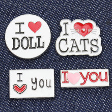 2..6Cm Letter Cartoon Iron Patches For Jeans Love You Patches For Lovers Clothing Sewing Metal Car Patches Child Birthday(China)