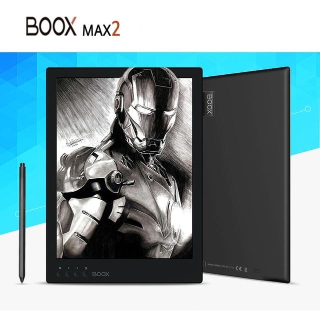 BOOX E lector de libro Original de contacto e-ink ebook Reader MAX2 2 GB RAM 32G 13,3 ''wifi bluetooth Android 6,0 e lector con cubierta