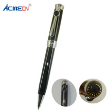 ACMECN Unique Design Black Ball Pen 34g Metal Brass Heavy Ballpoint with Chrome Accent Twist Retractable Office MB