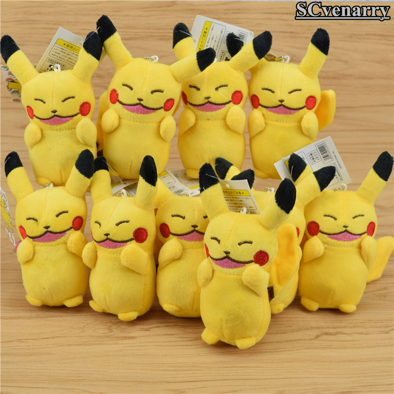 New Fashion 10pcs/set Anime Cartoon Pikachu Plush Toys Plush Pendant Toy Soft Stuffed Baby Dolls Factories And Mines Movies & Tv