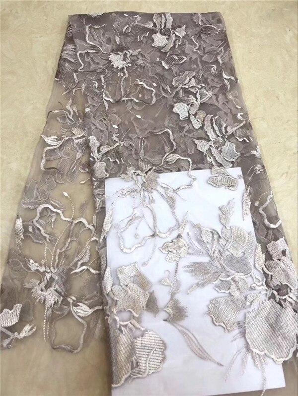 뜨거운 판매 이브닝 드레스 얇은 명주 그물 자수 프랑스 그물 레이스 원단 pnz812 (5 yards/lot)-에서레이스부터 홈 & 가든 의  그룹 2