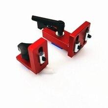 وصلة فتحة T track 35/45 دعامات منزلقة (سلسلة حمراء) وحدة أجزاء ماكينات النجارة T Track T stand من الألومنيوم