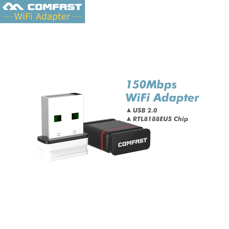 Card Wireless Mini WiFi адаптар 150Mbps WiFi прыёмнік USB Wifi антэна Realtek RTL8188EU 2.4G WiFi донгл USB WiFi сеткі