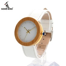 BOBOBIRD Womens Bamboo and Maple Ferrels with Gold Back Case Japan Quqrtz Movement as Good Gift for Women