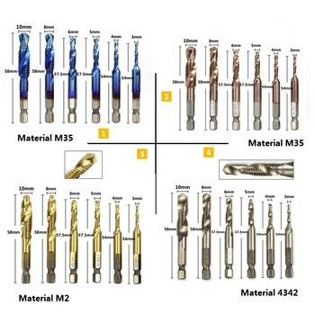XCAN 6 ŀ� 1/4 Ņ�角シャンク HSS Ã�トリックねじタップ HSS Ã�リルビットスパイラル台形タップハンドスクリュータップ M3 M4 M5 M6 M8 M1O Â�ップセット