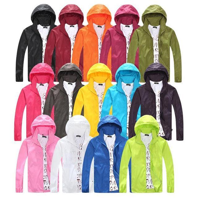 2016 Spring Autumn Summer Brand mens Womens  jacket hooded jacket Fashion Lovers Thin Windbreaker Zipper Coats X