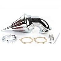 Мотоцикл Спайк Воздухоочиститель фильтр комплекты для Harley S & S пользовательские CV EVO XL Sportster хром