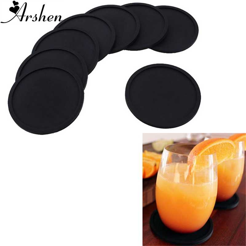 Arshen Silicone Round Cup Mat Kung Fu Tea Trays Heat Insulation