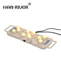 11 balls real jade roller massager projector LED photon light infrared knee pain relief therapy device body heater