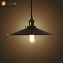 Fashional Pendant Lights,22CM/26CM/36CM E27 Vintage American Country Style,Black Shade Pendant Lights Club Bedroom Lights(MD-52)