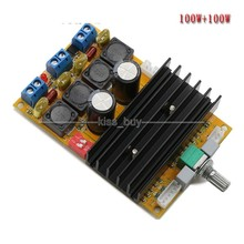 On sale 100W+100W HIFI High-Power Class D digital amplifier Board 12v 24v car diy AMP Speaker: 4-8ohm
