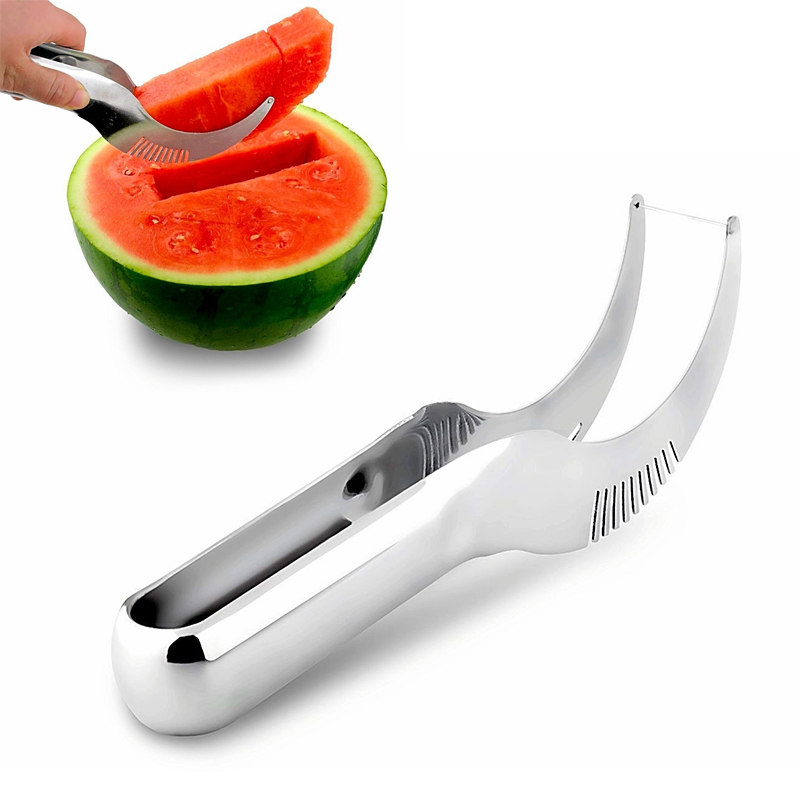 New Fruit Faster Melon Cutter Server Watermelon Corer Cantaloupe Cutting Seeder Slicer Scoop Fruit Tools F0341