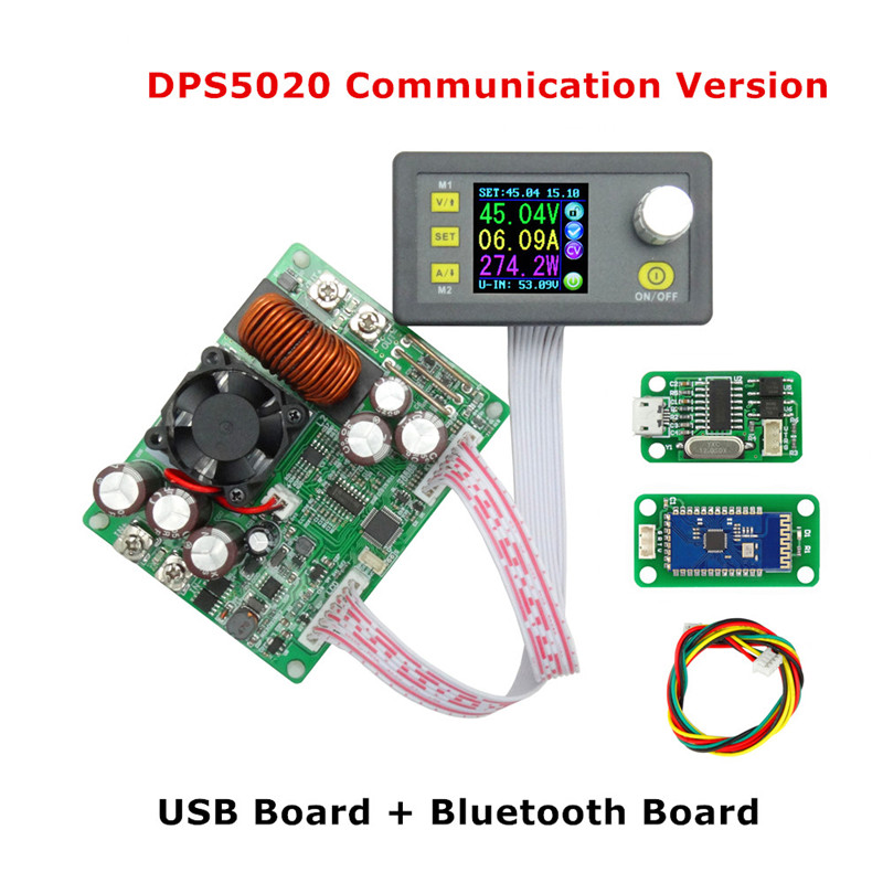 DPS5020 Constant Voltage Current Programmable Control Power Supply Module Step-down Communication Converter LCD Voltmeter 21%off
