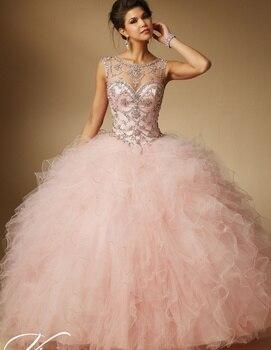 56fed67b6 Vestidos de quinceañera baratos de 2019 vestidos largos de princesa Sweet  16 15 Coral menta verde rosa blanco Vintage en línea Bola de talla grande  vestido ...