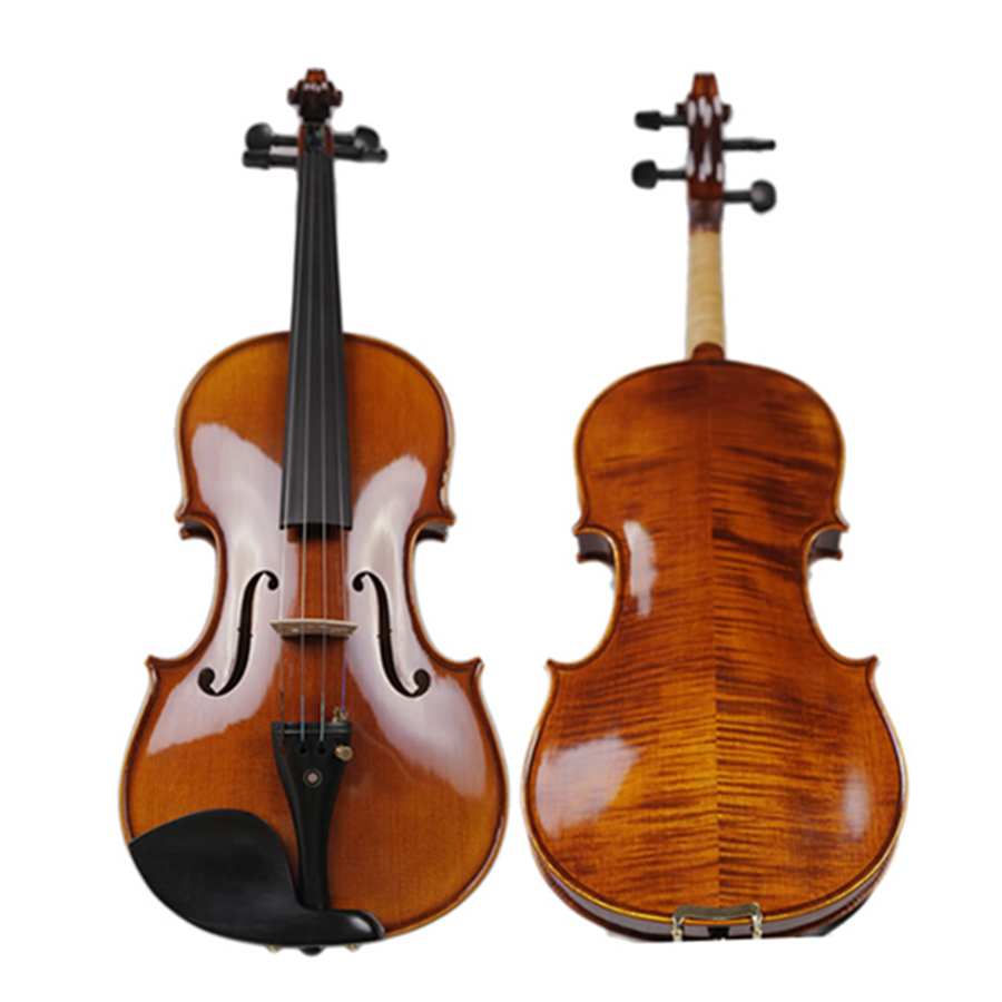 Professional Natural Flamed Hand Made Violin Maple Wood Antique Violino 4/4 3/4 Stringed Instruments TONGLING Brand image