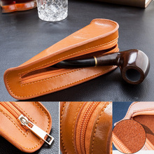 Leather Genuine Portable Pipe