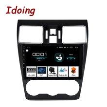 """Idoing """" Android 8,1 автомобильный Радио DSP dvd-плеер для Subaru WRX- 8 ядерный руль gps навигация 1080P видео 4G+ 64G"""
