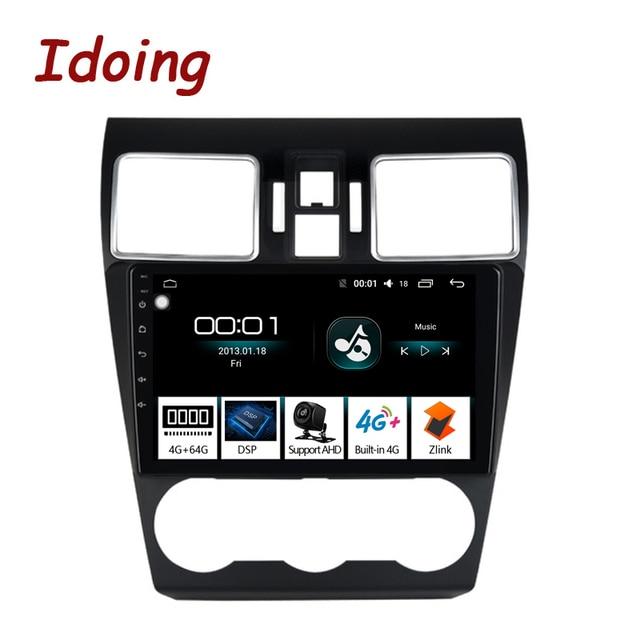 """Idoing 9 """"アンドロイド 8.1 カーラジオ DSP DVD プレーヤースバル WRX 2016-2019 8 コアステアリングホイール GPS ナビゲーション 1080 1080p ビデオ 4 グラム + 64 グラム"""