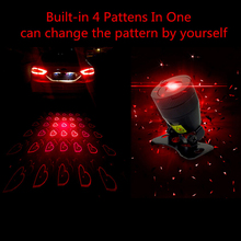 New Favourite Product Car Styling Anti Collision Rearend Car Laser Tail Car Led Fog Light Convertible Patterns car Warning Light