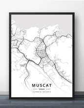 Muscat Oman Map Poster покрывало cleo muscat 001 mt