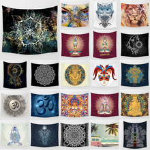 Unicorn tapestry mandala color abstract background  wall hanging home decoration large rectangle bedroom