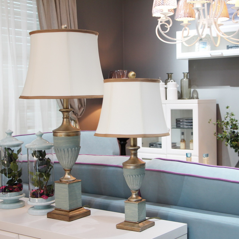 European classical table lamps blue warm study room living ...