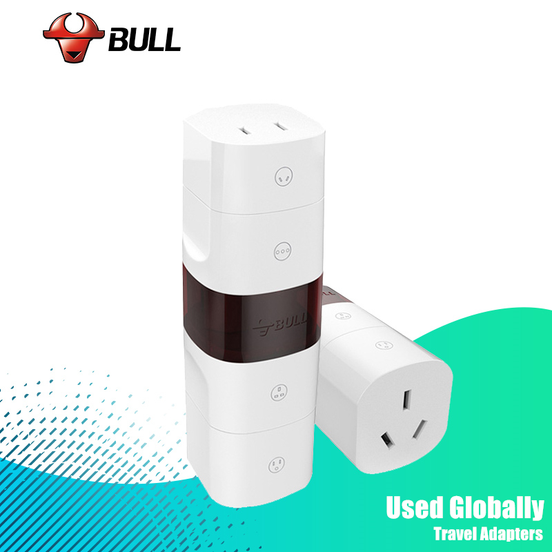 BULL Universal Plug Electrical Adapter Portable Power Socket Outlet All in One Travel Converter Worldwide Use for US/UK/EU/AU