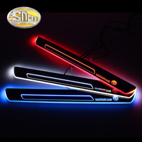 SNCN 2PCS Acrylic Moving LED Welcome Pedal Car Scuff Plate Pedal Door Sill Pathway Light For MG3 MG 3 2011 2012 2013 2014 2015